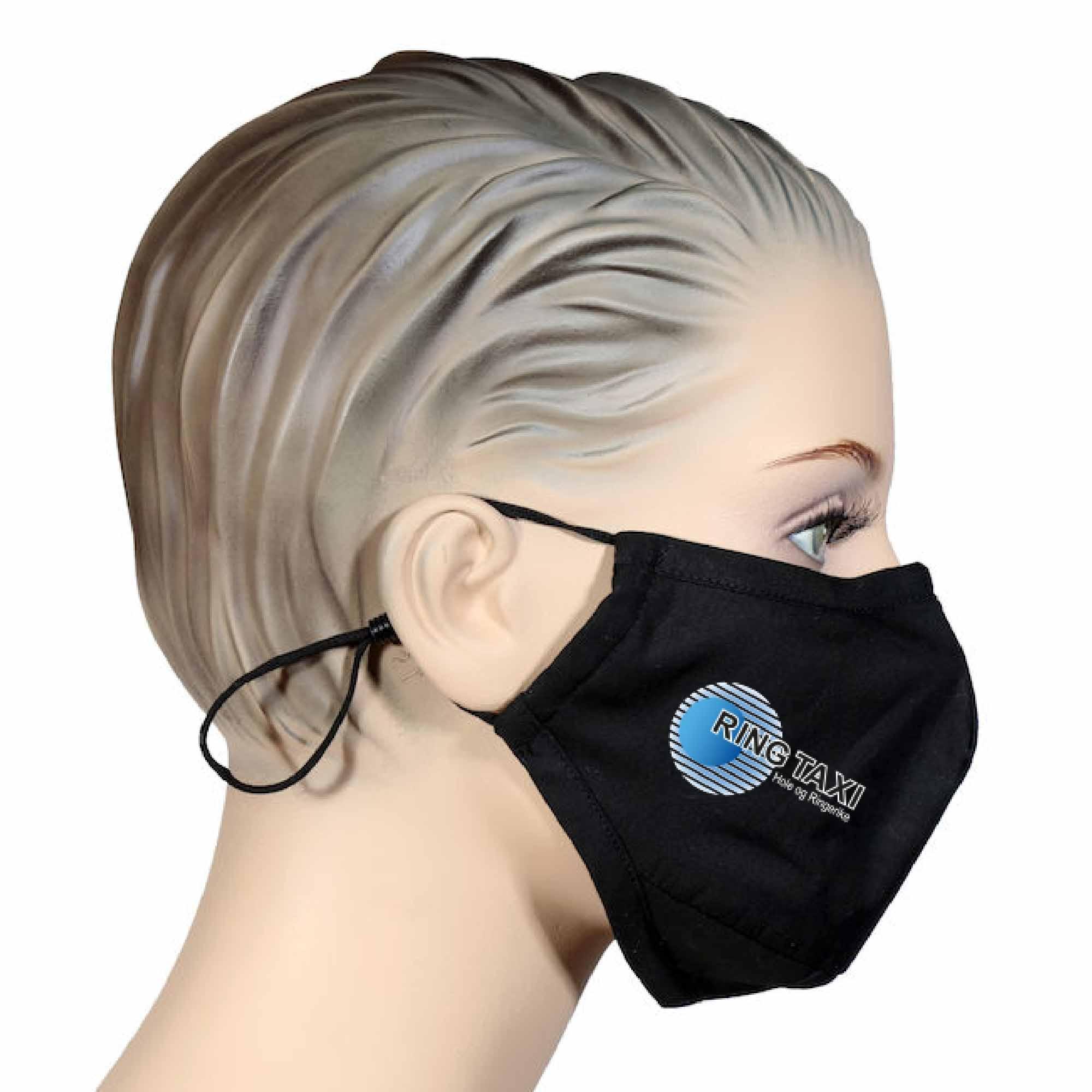 Ansiktsmaske m logotrykk